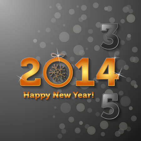 2014 Happy New Year Illustration