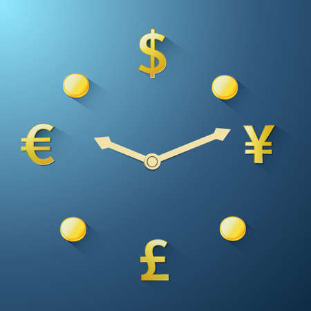 time account: Currency time passing