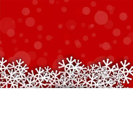 Vektor-Schneeflocken mit rotem Hintergrund