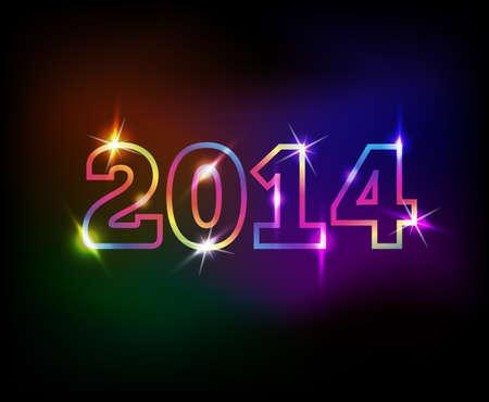 2014 jaar kleurrijke achtergrond