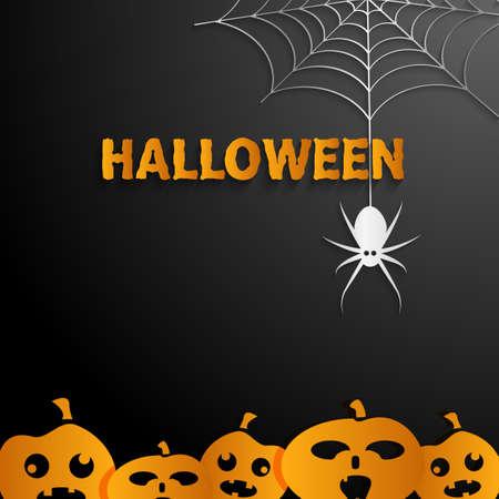 spider' s web: Halloween black  background Illustration