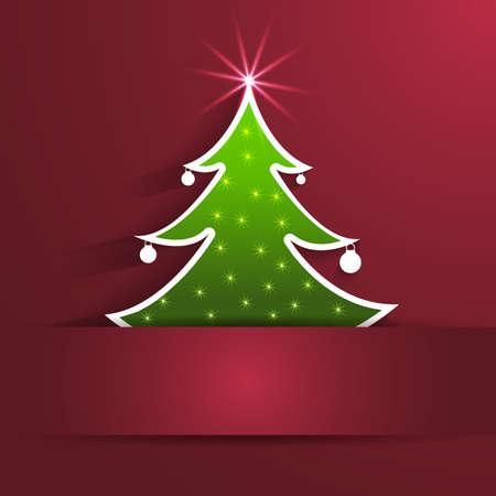 ?rbol de Navidad de fondo  Foto de archivo - 22800111