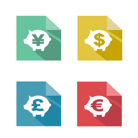 flat paper  currency exchange Vector