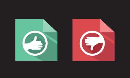unlike: vector flat icons like unlike signs