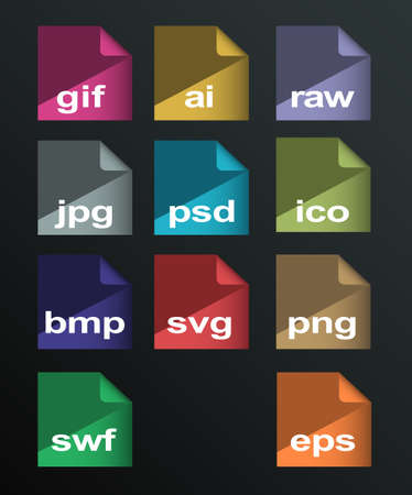 formats: vector image formats set