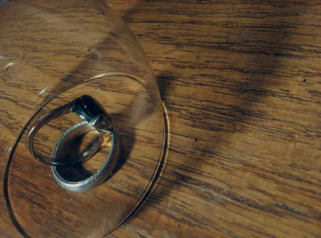 shiny metal: shade rings under the cup of whine