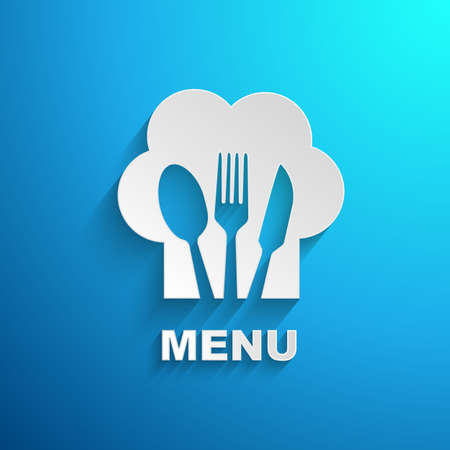 menu chef paper effect Vector