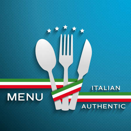 menu italian cover Vector