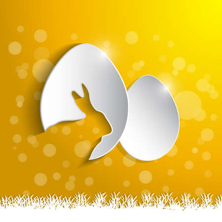 paper eggs with shadow Stock Vector - 23868674