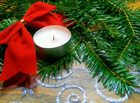 wish: Christmas candle ornament