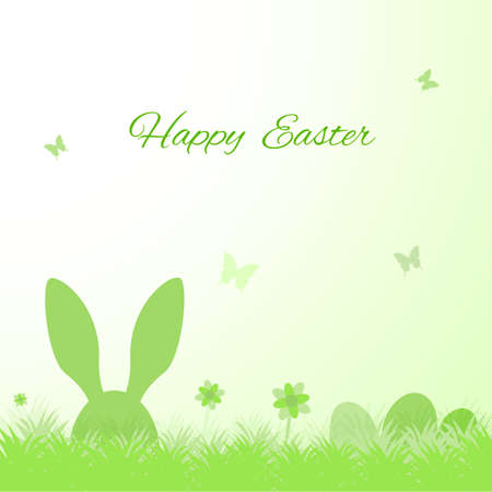 easter message: Happy Easter cute greeting card sample