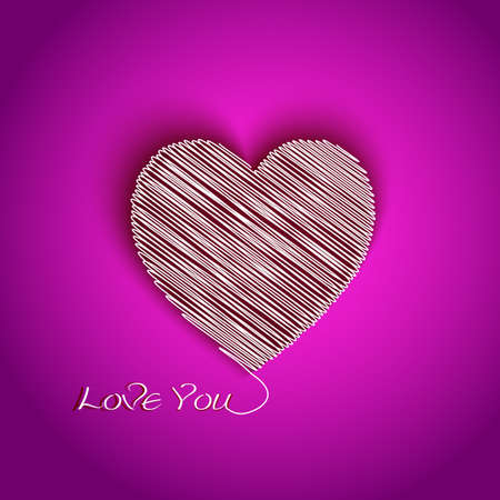 declaration of love: heart shape with I Love You message