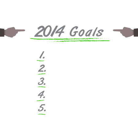 2014 Goals list isolated on white Vector