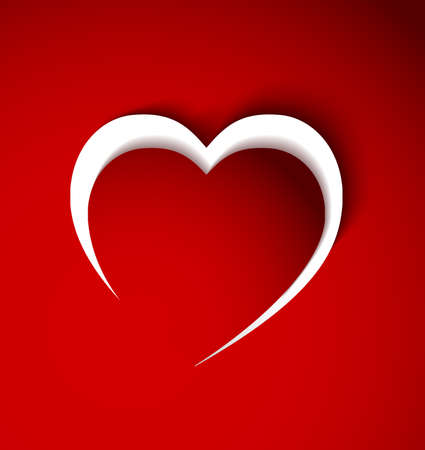 red heart from paper Vector