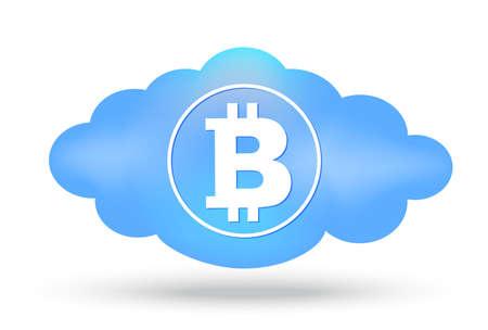 crypt: Cloud Bitcoin presentation on white