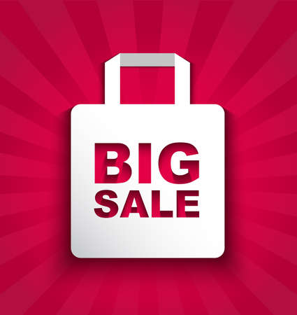 big sale: paper shopping bag BIG SALE Illustration