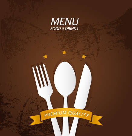 Restaurant Menu Premium Quality Vector
