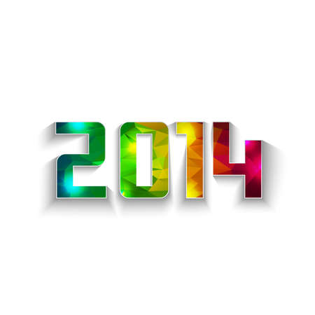 polygonal 2014 shape with copy space Illustration