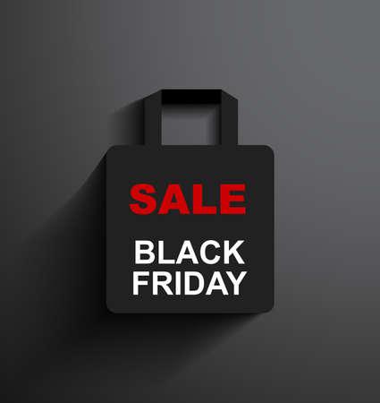 SALE shopping bag Black Friday Vector