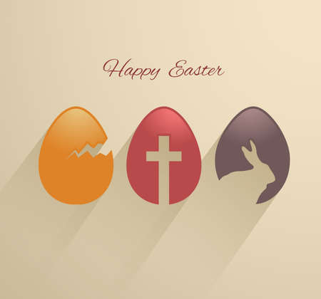 cracked egg: Easter eggs flat design