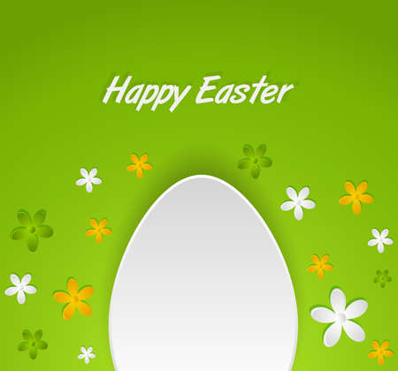spring Easter egg card Vector
