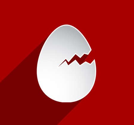 cracked egg: Easter egg broken greeting card