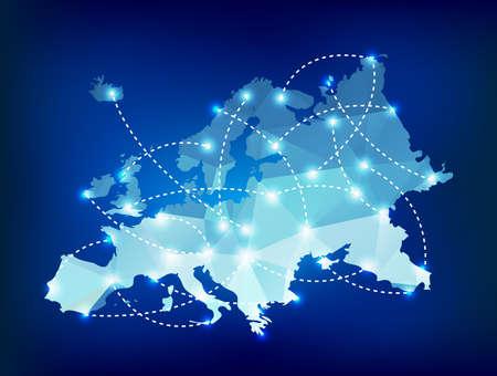 스폿 조명에 대한 유럽지도 다각형