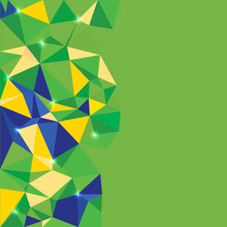 brasil: abstract geometric background