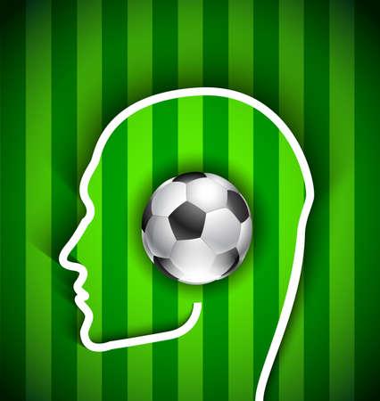 supporters hoofd met voetbal - Voetbal fan