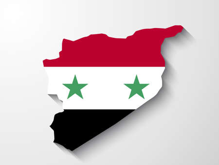 Syria map with shadow effect presentation Vector