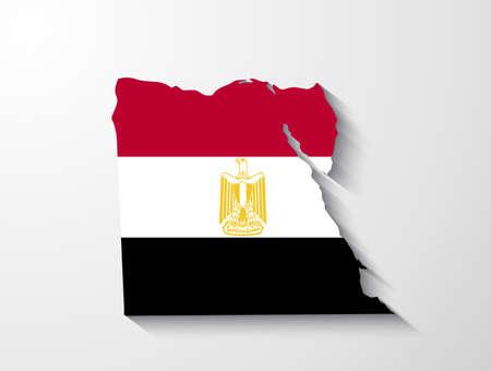 bandera de egipto: Egipto y la presentación efecto de sombra