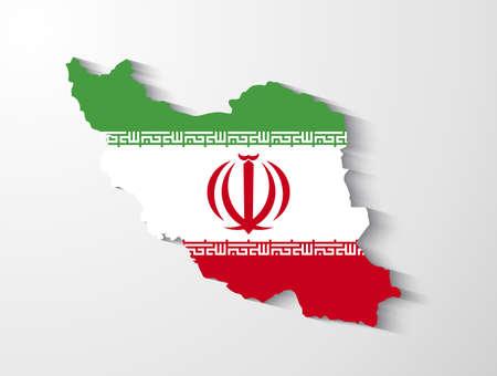 Iran map with shadow effect presentation