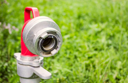 fire fighting equipment: close up of hydrant nozzle
