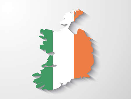 dublin: Ireland  country map with shadow effect presentation