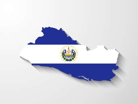 mapa de el salvador: Mapa El Salvador con efecto de sombra
