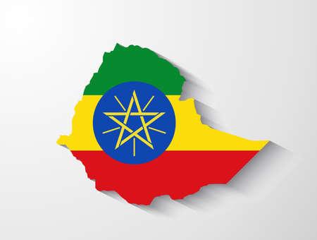 ethiopia: Ethiopia map with shadow effect
