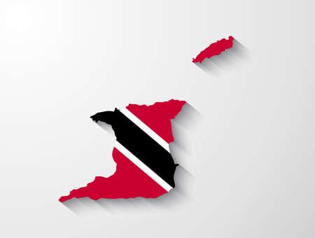trinidad: Trinidad and Tobago map with shadow effect Illustration