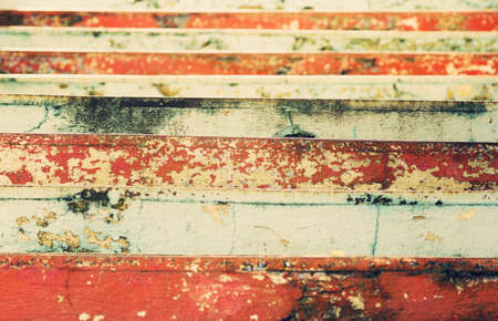 scala: view of the colorful stairs shriveled - vintage look