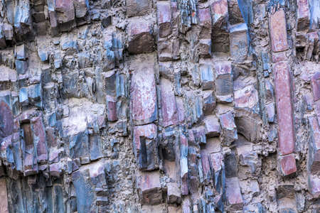 mineralized: Sedimentary rock layers