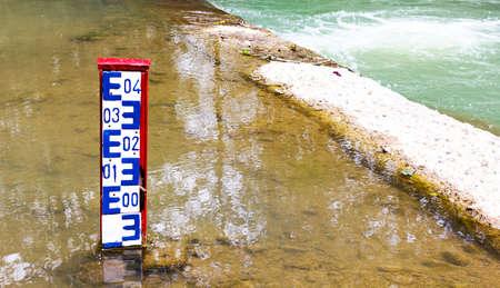 Water level indicator dam photo