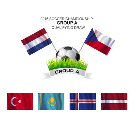 2016 SOCCER CHAMPIONSHIP GROUP A QUALIFYING Vector