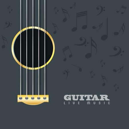 Guitar live music poster background Illustration
