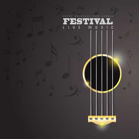 音楽祭のポスターのコンセプト  イラスト・ベクター素材