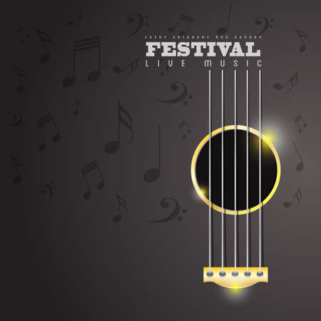 guitarra acustica: Festival de Música concepto cartel