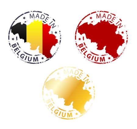 ベルギーのスタンプ - 国の地図で本格的なスタンプを地面で行われました。