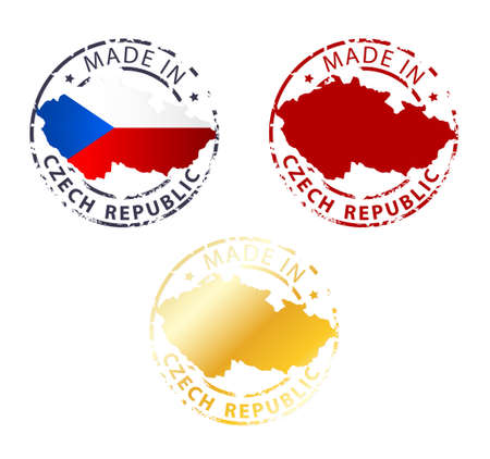 made in Czech Republic stamp - ground authentic stamp with country map Vector