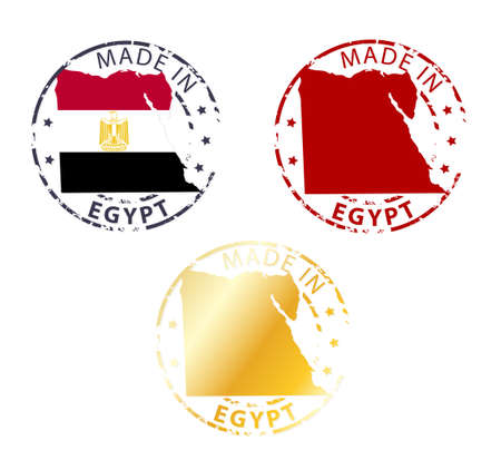 made in Egypt stamp - ground authentic stamp with country map Vector