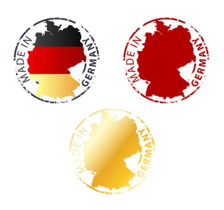 made in Germany stamp - gemalen authentieke stempel met landkaart