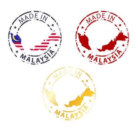 gemaakt in Maleisië postzegel - gemalen authentieke stempel met landkaart
