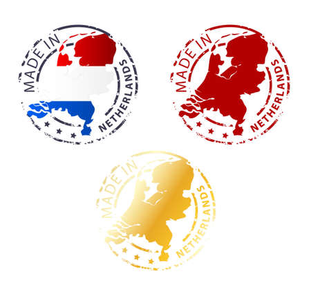 made in netherlands: made in Netherlands stamp - ground authentic stamp with country map